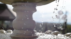 Beautiful fountain in city park, Baroque architecture Vienna sun Stock Footage