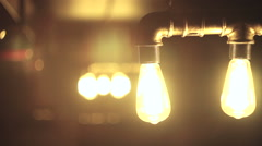 Incandescent lamp design, a bright shine Stock Footage