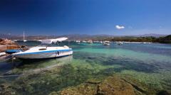 Boat near Ajaccio, Corsica, France, Europe. Stock Footage