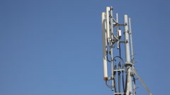 Antenna mobile transmitter tower Stock Footage