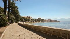 Ajaccio old city center, France, Europe. Stock Footage