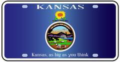 Kansas Flag License Plate Stock Illustration
