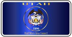 Utah License Plate Flag Stock Illustration