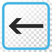 Arrow Left Vector Icon In a Frame Stock Illustration