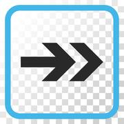 Arrow Right Vector Icon In a Frame Stock Illustration