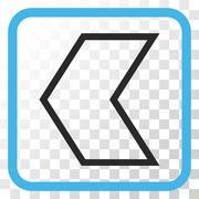 Arrowhead Left Vector Icon In a Frame Stock Illustration