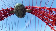 Zhivopisny cable-stayed bridge Stock Footage
