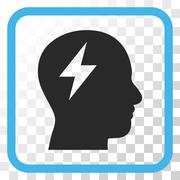 Brainstorming Vector Icon In a Frame Stock Illustration
