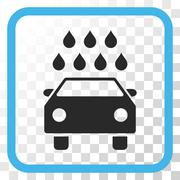 Car Shower Vector Icon In a Frame Stock Illustration