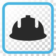 Construction Helmet Vector Icon In a Frame Stock Illustration