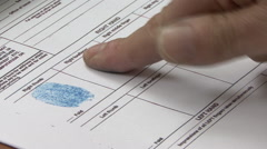 Fingerprints form Stock Footage