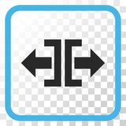 Divide Horizontal Direction Vector Icon In a Frame Stock Illustration