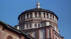 Italy-Milan-cenacolo-leonardo-da-vinci-Santa-Maria-delle-Grazie-Renaissance Stock Footage