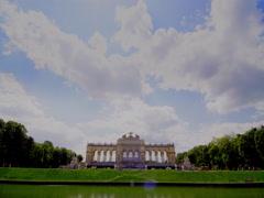 Gloriette at Schönbrunn Palace in Vienna Stock Footage