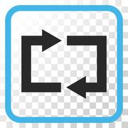 Exchange Arrows Vector Icon In a Frame Stock Illustration