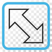 Exchange Diagonal Vector Icon In a Frame Stock Illustration