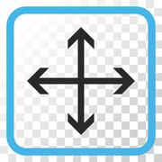 Expand Arrows Vector Icon In a Frame Stock Illustration
