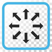 Explode Arrows Vector Icon In a Frame Stock Illustration