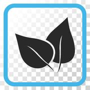 Flora Plant Vector Icon In a Frame Stock Illustration