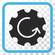 Gear Rotation Vector Icon In a Frame Stock Illustration