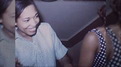 Party African American Young Black Friends Fun 70s Vintage Film Home Movie 10052 Stock Footage