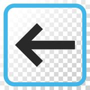 Left Arrow Vector Icon In a Frame Stock Illustration