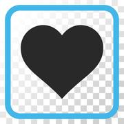 Love Heart Vector Icon In a Frame Stock Illustration