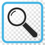 Magnifier Vector Icon In a Frame Stock Illustration