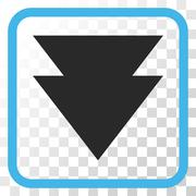 Move Down Vector Icon In a Frame Stock Illustration