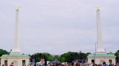 Schönbrunn Palace Entrance in 4k Stock Footage