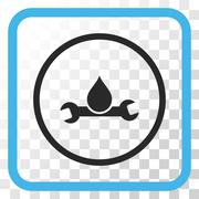 Plumbing Vector Icon In a Frame Stock Illustration