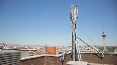 Antenna mobile Stock Footage