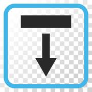 Pull Down Vector Icon In a Frame Stock Illustration