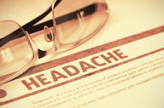 Diagnosis - Headache. Medicine Concept. 3D Illustration Stock Illustration