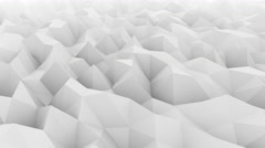 Low poly light gray abstract polygonal modern motion background for Stock Footage