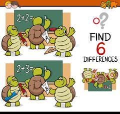 Differences task for children Stock Illustration
