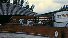 Ecuador 1970: bullfighting arena before the show Stock Footage