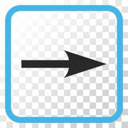 Sharp Arrow Right Vector Icon In a Frame Stock Illustration