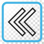 Shift Left Vector Icon In a Frame Stock Illustration