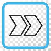 Shift Right Vector Icon In a Frame Stock Illustration