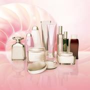 Daily, beauty care cosmetic. Face cream, eye cream, serum and lip balm. Stock Illustration
