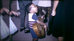 African American Black Child Prodigy Boy Kid 60s Vintage Film Home Movie 10046 Stock Footage