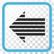 Stripe Arrow Left Vector Icon In a Frame Stock Illustration