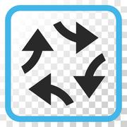 Swirl Arrows Vector Icon In a Frame Stock Illustration