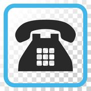Tone Phone Vector Icon In a Frame Stock Illustration