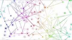 Connected Objects, Information Exchange Animation - Loop Rainbow Stock Footage