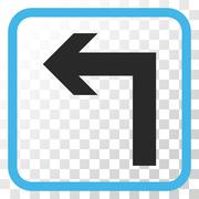 Turn Left Vector Icon In a Frame Stock Illustration
