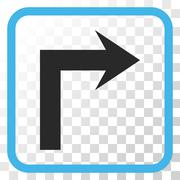 Turn Right Vector Icon In a Frame Stock Illustration