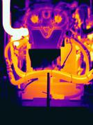 Thermal image of automobile engine Stock Photos