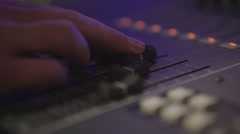 Professional Sound Equipment For the Concert, the Remote to Control the Sound Stock Footage